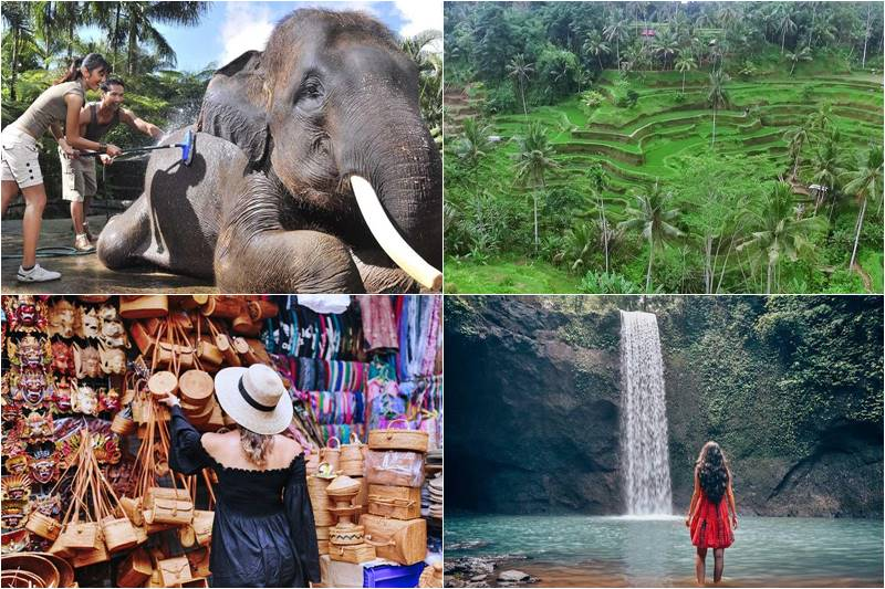Bali Bathing Elephant and Tibumana Waterfall Tour 2
